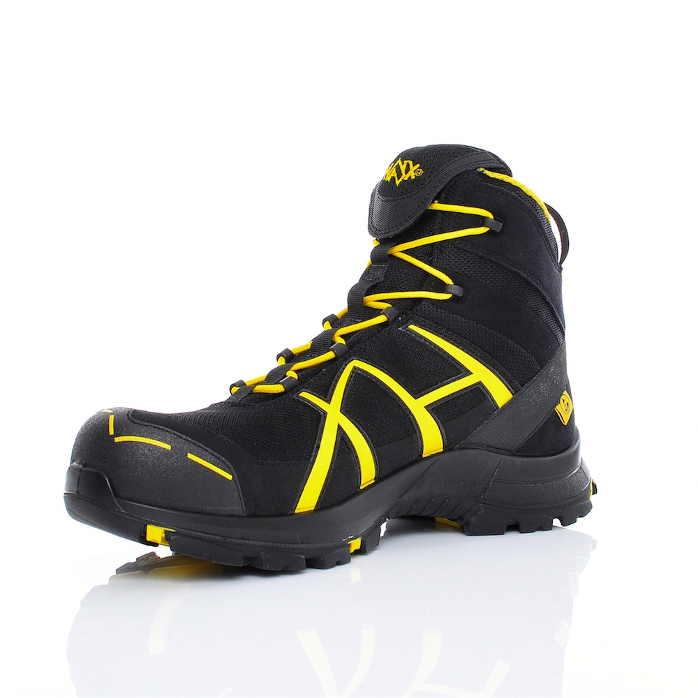 Laces for Haix Black Eagle Safety 40 Mid Black//Yellow